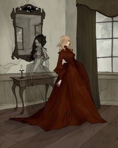 Ligeia an art print by Abigail Larson Abigail Larson, Arte Horror, Horror Art, Pretty Art, Oeuvre D'art, Dark Art, Art Inspo, Amazing Art, Character Art