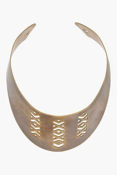 Pamela LOVE | Brass Cutout Collar