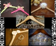 DIY Personalized Hangers Tutorial:  Wood Hangers,  Wire (20 gauge found in the floral supply area at Michaels, but I would suggest even getting a thicker one if possible!) – I ended up needing (2) 10 yard packs,  Pliers,  wire cutters,  Pencil/Paper,  A online font (or write freehand),  Drill  ~Sketch out your names so you can make sure you understand the length you need and the shapes.