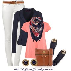 A fashion look from February 2014 featuring American Vintage, white jeans and tory burch shoes. Browse and shop related looks.