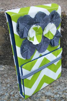 Green Chevron and Denim Stand-Up Nook Case Nook Cases, Green Chevron, Stand Up, Quilts, Blanket, Denim, Sewing, Cover, Ideas