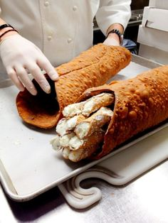 Giant Cannolo Filled With Cannoli