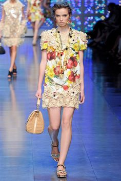 play with patterns. Dolce & Gabana Spring 2012