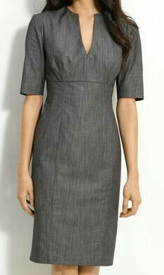 Calvin Klein Stretch Cotton Sheath Dress available at Simple Dresses, Casual Dresses, Fashion Dresses, Dresses For Work, Calvin Klein Dress, Classy Dress, Office Outfits, Work Attire, Nordstrom Dresses