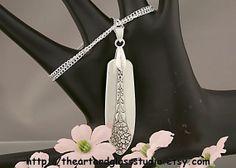 Silver Spoon Pendant PRINCESS ROYAL by theartandglassstudio, $18.00