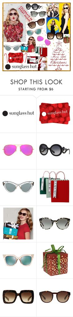 """""""Give The Gift Of STyle"""" by westcoastcharmed ❤ liked on Polyvore featuring Ray-Ban, Prada, Miu Miu, Meri Meri, Tory Burch, Jagger, Fendi and Dolce&Gabbana"""