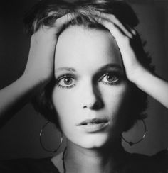 Mia Farrow photographed by Jeanloup Sieff, 1968.