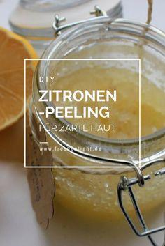 Zitronenpeeling für weiche und zarte Haut in nur 5 Minuten hergestellt.