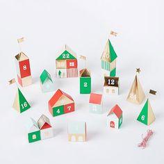 3D Advent Village
