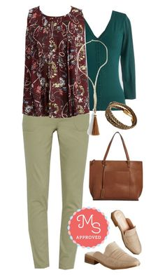 """""""In a Folding Pattern Top"""" by modcloth ❤ liked on Polyvore featuring WorkWear, outfit, modcloth and workappropriate"""