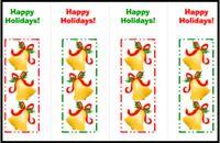 Holiday bells bookmarks: marcapáginas de campanitas de Navidad