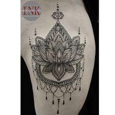 Artist *Sebz* Beautifully done mandala outer thigh piece Dreamworx Ink 3883 Rutherford Rd Unit 11 Vaughn  905.605.2663 info@dreamworxink.com #Dreamworx #dreamworxink #tattoo #tattoos #mandala #mandalatattoo #mandaladesign #girlswithtattoos #tattoosofinstagram #instatattoo #tattoosofig #dotwork #shading #greyscale #chandelier #btattooing #blackworkers #blackworkerssubmission #blackwork #tattrx #tttism #symmetry #equilattera #inkedgirls #inked