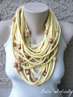 Bella Infinity Beaded Scarf Yellow by BellaInfinityScarves on Etsy, $28.00  www.facebook.com/infinity0512
