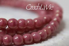 NEW 3mm Czech Druk Beads Green aqua with some gold by CzechLaVie, $2.65