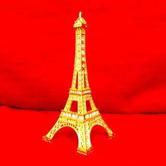 Miniatura Torre Eiffel Dourada
