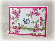 StampinLab.  Stampin Up! Painted Petals with doodles