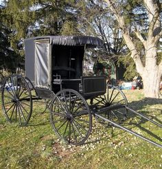 Old Authentic Vintage horse drawn buggy doctors by prairiestation