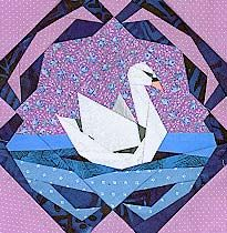 Serene Swan PaperPieced Pattern at Paper Panache