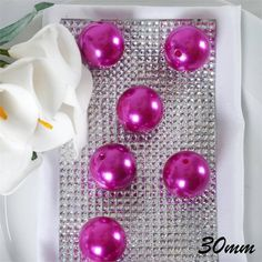 30 mm or Fuchsia Faux Pearls DIY Crafts Wedding Party Pearl Garland, Beaded Garland, Candle Centerpieces, Wedding Centerpieces, Wedding Decorations, Craft Wedding, Wedding Favors, Fascinator Hairstyles, Decorating Supplies