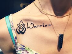 Warrior tattoo  Sexual assault survivor symbol