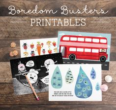Boredom Busters Printable Activity Sheets