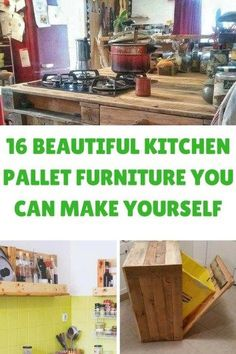 16 BEAUTIFUL KITCHEN PALLET FURNITURE YOU CAN MAKE YOURSELF