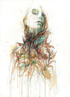 Carne Griffiths-- I love how it looks as though she is melting.