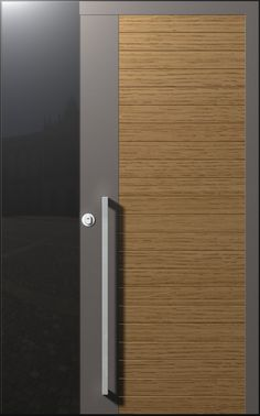 The Alicante Glass door is a classic combination between cold and hot, metal and wood. The door has an exact mix of the various materials creating a lovely door to look at, which is based on classical contents, yet brings innovation and freshness. The unique handle stems from the door itself, and creates a natural continuation of the door. The Alicante door matches those who love both the classic and the modern. In this model, which includes a glass window