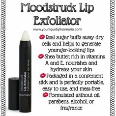 Lip exfoliating for soft smooth lips. How to get soft lips fast. One step for kissable lips. Cellulite Scrub, Smooth Lips, Exfoliate Face, Younique Presenter, Lip Care, Beauty Bar, Diy Beauty, Beauty Makeup, Shea Butter