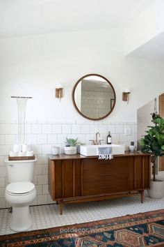 Outstanding Modern Vintage Bathroom Makeover The post Modern Vintage Bathroom Makeover… appeared first on Poll Decor .