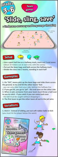 Competitive team games (and an activity to try in your next PE lesson) A free whole-class team game, a great PE activity for your grade Try this out in your next lesson, then check out the collection of 21 awesome games! Pe Activities, Activity Games, Physical Activities, Movement Activities, Elderly Activities, Dementia Activities, Gym Games For Kids, Exercise For Kids, Warm Up Games
