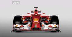 Vista de frente del Ferrari de 2014