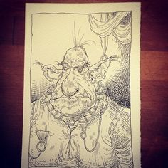 Goblin from Chris Riddell and Paul Stewart's series The Edge Chronicles Paul Stewart, Goblin, Art Reference, Fairy, Draw, Ink, Portrait, Illustration, Headshot Photography