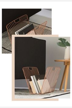 The chicest way to organise your bedtime reading? This industrial-style storage rack will tidy up books and magazines while keeping them stylishly to hand. An easy way to get on board with the copper trend without breaking the bank.