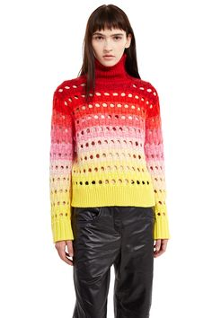 Kenzo Pitti Uomo Gradient Open-Stitch Sweater - WOMEN - Kenzo Pitti Uomo - OPENING CEREMONY