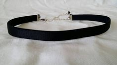 Black thin satin ribbon   Goth choker 80's and 90's by zharenee