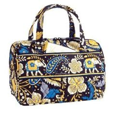 Vera Bradley Lunch Date in Ellie Blue  Retired NWT insulated bottle travel cosmetic case