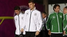 #neuer - Germany arrive for their UEFA EURO 2012 quarter-final against Greece