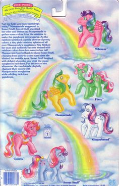 My Little Pony backcard - twinkle-eyed ponies!