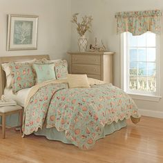 Have to have it. Waverly Shore Thing Reversible Quilt Set - $129.99 @hayneedle
