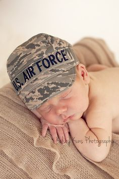 AIR FORCE ABU Infant Military Cap. $20.00, via Etsy. My child will have this!