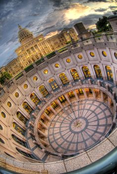Austin, Texas: Capitol Building -  Talke Photography.  Look at that angle...