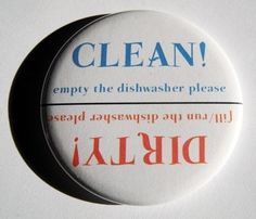 Clean or Dirty dishwasher magnet.