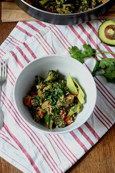 Vegetable and quinoa scramble
