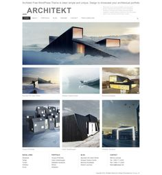 Architekt Free WordPress Theme is clean simple and unique. Design to showcase your architectural portfolio This theme was inspired by the works of Fantastic Norway