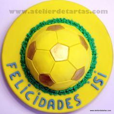 Tarta Fondant Cumpleaños Fútbol  Football Birthday Fondant Cake