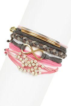 Pura Vida Feeling Pink Assorted String Bracelet Set