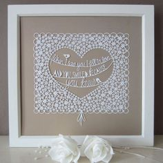 Original Papercut  When I saw you... by allcutupbydg on Etsy, £80.00