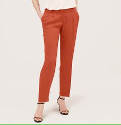 Fluid Tencel Twill Ankle Pants in Julie Fit | Loft