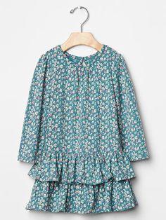 Floral tier drop-waist dress | Gap